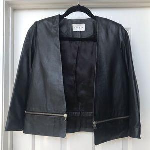Sandro Paris Sheep Leather Jacket Size Small